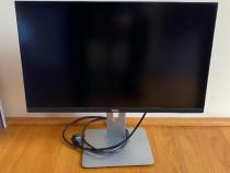 "Monitor LED IPS Dell U2515h, 25"", QHD, negru + Cablu HDMI"