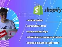 Magazin online Shopify pentru pentru Dropshipping