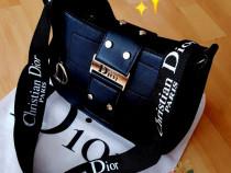 Geanta Christian Dior new model logo metalic auriu