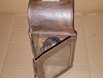 C389-Lampa CFR veche metal stare foarte buna anii 1900-1930.