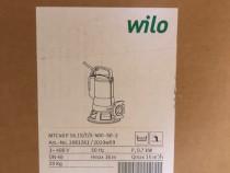 Pompa submersibila Wilo cu tocator, trifazata,noua garantie