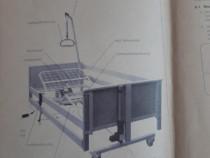Pat electric spital cu telecomanda si saltea antiescara
