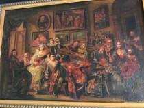 Tablou pictat semnat inramat pictura Flamanda Tablou baroc