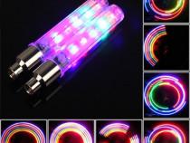 Set 2 leduri multicolore 5 tipuri luminozitate colora la rot