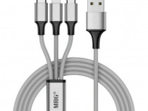 Cablu date si incarcare, 3 in 1, MicroUSB,Lightning c532