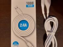 Cablu de date incarcare 2,4A pentru iPhone