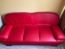 Set canapea extensibilă cu doua fotolii