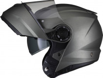 Casca moto modulara Black Optimus II - gri mat
