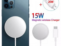 Cablu MagSafe Magnetic - Incarcare Wireless Fast Charge 15W