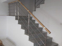 Confecționăm Balustrade inox, sticla, lemn