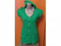 Tunica/ Bluza verde cu gluga , Jane Norman UK, dama
