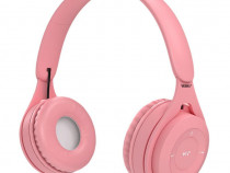 Casti wireless MRG MYO8, Handsfree, Cu bluetooth, Roz C574