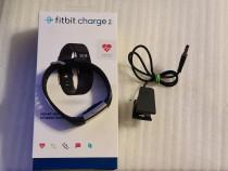 Bratara fitness Fitbit Charge 2, Black Silver, Large - poze