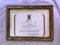 Brevet pentru medalia crucea comemorativa ww2