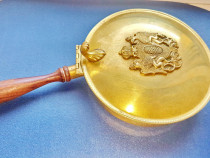 C815-Prajitor Italy bronz masiv aurit heraldica regala.