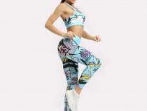 Colanti Fitness Dama YF 006 Albastru L