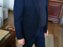 Costum negru ZARA mărimea 44 slim fit