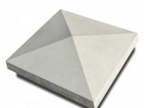 Capac stâlp gard beton gri 40 x 40 cm