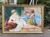 Tablou NUD Pictat pe Placaj Semnat Detalii Foarte Bune 106cm