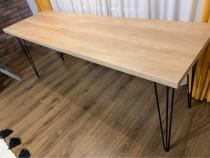 Masa Din lemn cu picioare metalice (1.98 x 60)