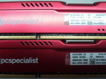 KIT Memorii Ram GAMES PC Kingston HX316C10FR/8 RED 16 GB