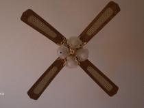 Lustra cu ventilator, 4 palete