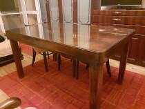 Masa de sufragerie 6 persoane, extensibila, din lemn masiv