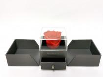 Cutie de bijuterii cu trandafir criogenat la comanda
