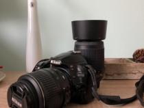 Nikon D3100 obiectiv 18-55 mm + 55-200 VR