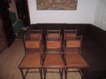 Set de 6 scaune living, bucatarie HENRI AL- II -LEA
