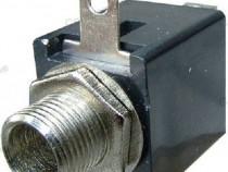 Conector jack 6,3mm, mono, mama, montare pe panou-121451