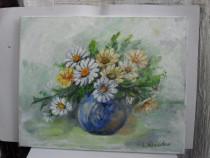 Flori 19-pictura ulei pe panza;Macedon Luiza
