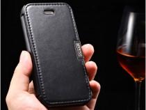 Husa piele icarer luxury iphone se / 5 / 5s, tip carte negru