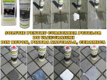 Solutie curatat pete ulei din pavele, beton, piatra naturala