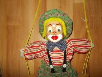 Clown / clovn cu capul din portelan cu dimensiunea de 50 cm