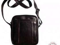 Geanta cb 01-brown leather crossbody bag