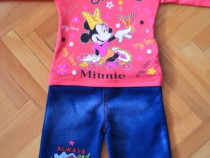 Compleu minnie mouse, bumbac, pantalon Blug