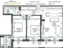 Apartament spatios cu 3 camere in zona Garii, et 2