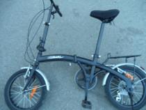 Bicicleta pliabila neagra
