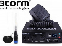 Pachet statie radio CB Storm Discovery II+ant ML145 cu mag.