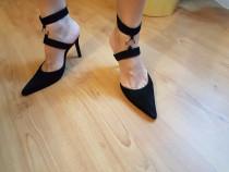 Pantofi negri piele întoarsă Colin Stuart by VS