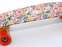 Pennyboard - Skateboard - Penny Board - Roz cu flori – NOU