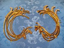 3062-Set de 12 Ornamente candelbru, etc. in bronz aurit.