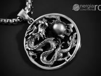 Amuleta, Pandantiv Dragon Cornut INOX - cod PND055