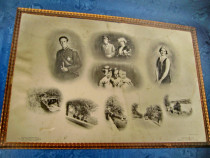 1490- Familia regala belgiana- foto veche mare originala.