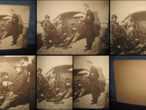 Ww2- Foto grup de Militari artileristi la bateria de lupt