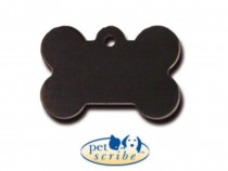 Medalion Os Mic Aluminiu Negru Pet