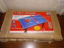 -75% Redus,2 Mese-Tenis de Lemn+Palete+Fileu;120x67x66cm,NOI