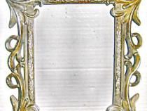 6327-Rama argintie stil Florentin calamina sintetica plastef