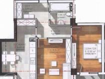 Apartament 2 camere, zona Polus, Floresti